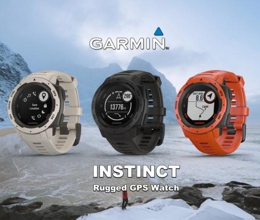 Garmin Instinct rugged outdoor smartwatch tech specs