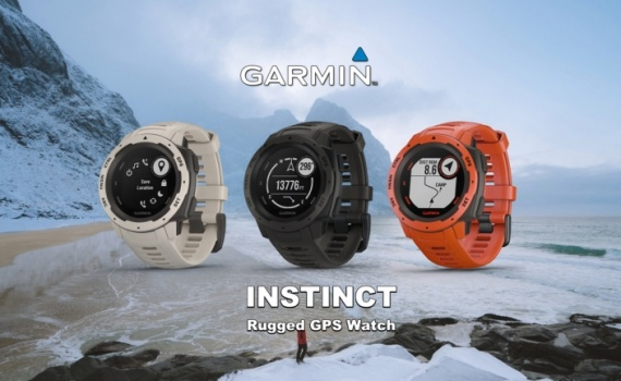 Garmin Instinct rugged outdoor smartwatch tech specs