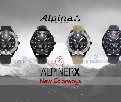 Alpina launches four new colorways of the outdoors smartwatch AlpinerX
